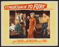 "Movie Posters:Western, Stagecoach to Fury (20th Century Fox, 1956). Lobby Cards (7) (11"" X14""). Western.. ... (Total: 7 Items)"