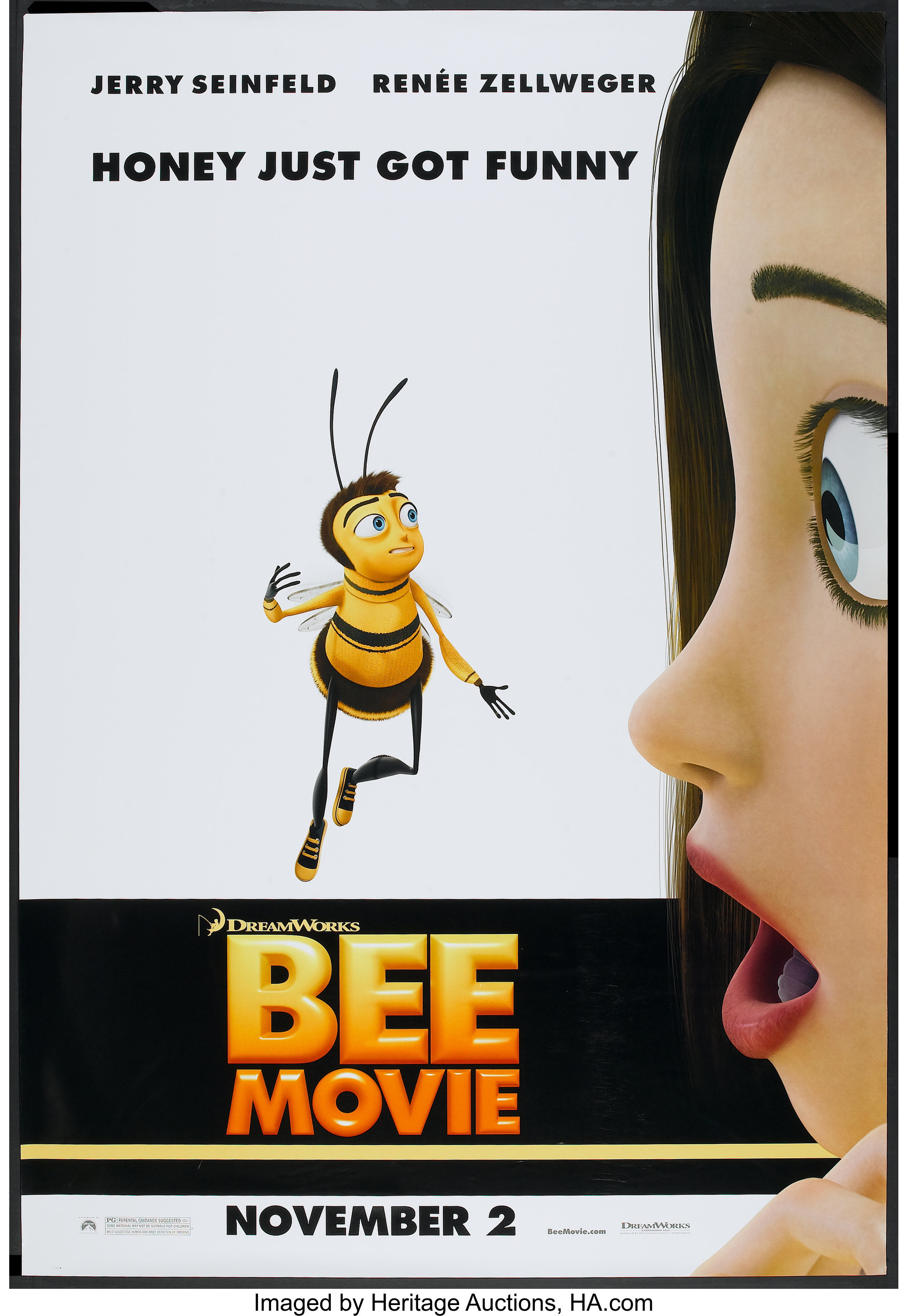 Bee Movie Dreamworks 2007 Bus Shelter 48 X 70 Ds Advance Lot 53044 Heritage Auctions