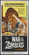 "Movie Posters:Horror, War of the Zombies (American International, 1964). Three Sheet (41""X 81""). Horror.. ..."