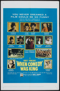 "When Comedy Was King (20th Century Fox, 1960). One Sheet (27"" X 41""). Comedy"