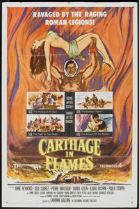"Carthage in Flames (Columbia, 1960). One Sheet (27"" X 41""). Historical Drama"