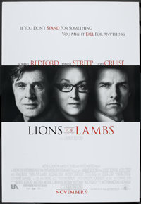 """Lions for Lambs (MGM/UA, 2007). Bus Shelter (48"""" X 70"""") DS Advance. Drama"""