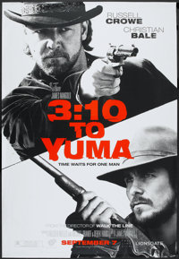 """3:10 to Yuma (Lions Gate, 2007). Bus Shelter (48"""" X 70"""") DS Advance. Western"""