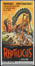 "Movie Posters:Science Fiction, Reptilicus (American International, 1961). Three Sheet (41"" X 81""). Science Fiction.. ..."
