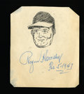 Autographs:Others, 1947 Roger Hornsby Signed Caricature....