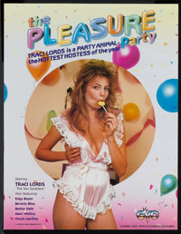 "The Pleasure Party (Gourmet Video, 1985). Poster (17"" X 22""). Adult"