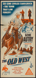 "Movie Posters:Western, The Old West (Columbia, 1952). Australian Daybill (13"" X 30"").Western.. ..."