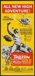 "Movie Posters:Adventure, Tarzan and the Valley of Gold (Roadshow, 1966). Australian Daybill(13"" X 29""). Adventure.. ..."