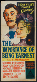 "Movie Posters:Comedy, The Importance of Being Earnest (Rank, 1952). Australian Daybill (13"" X 30""). Comedy.. ..."