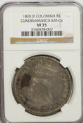 Colombia, Colombia: Republic-Cundinamarca 8 Reales 1820-JF,...