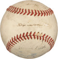 Autographs:Baseballs, 1939 Brooklyn Dodgers Team Signed Baseball from Dixie Walker. ...