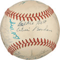 Autographs:Baseballs, 1949 Pittsburgh Pirates Team Signed Baseball from Dixie Walker....
