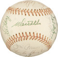 Autographs:Baseballs, 1974 Los Angeles Dodgers Team Signed Baseball from Dixie Walker....