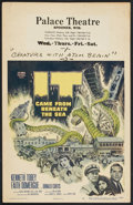 """Movie Posters:Science Fiction, It Came From Beneath the Sea (Columbia, 1955). Window Card (14"""" X22""""). Science Fiction.. ..."""