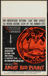 """The Angry Red Planet (American International, 1960). Window Card (14"""" X 22""""). Science Fiction"""