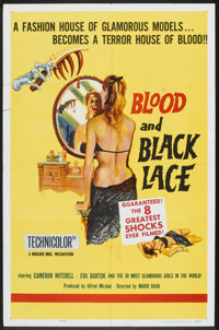"Blood and Black Lace (Allied Artists, 1965). One Sheet (27"" X 41"") and Pressbook (14"" X 19""). Horror..."