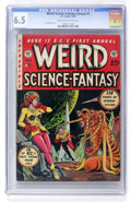 Golden Age (1938-1955):Science Fiction, Weird Science-Fantasy Annual #1 Williamsport pedigree (EC, 1952)CGC FN+ 6.5 Cream to off-white pages....