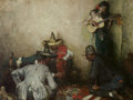 Paintings, HARVEY T. DUNN (American, 1884-1952). A Game of Chance, 1947. Oil on canvas. 28-1/2 x 38 inches (72.4 x 96.5 cm). Monogr...