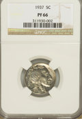 Proof Buffalo Nickels, 1937 5C PR66 NGC....