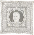 Political:Textile Display (1896-present), Theodore Roosevelt: Lace Portrait Tablecloth....
