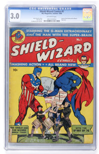 Shield-Wizard Comics #1 (MLJ, 1940) CGC GD/VG 3.0 Off-white pages