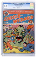 Golden Age (1938-1955):Superhero, Shield-Wizard Comics #4 (MLJ, 1941) CGC FN+ 6.5 Cream to off-white pages....