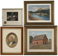 Political:3D & Other Display (1896-present), Dwight D. Eisenhower and Mamie Doud Eisenhower: Four LargeChristmas Gift Prints.... (Total: 4 Items)