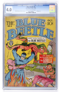 Blue Beetle #9 (Fox Features Syndicate, 1941) CGC VG 4.0 Cream to off-white pages