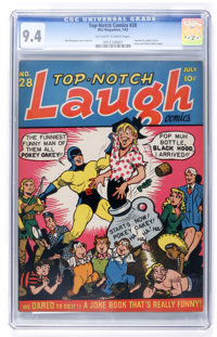 Top-Notch Comics #28 (MLJ, 1942) CGC NM 9.4 Off-white to white pages