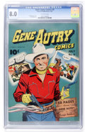 Golden Age (1938-1955):Western, Gene Autry Comics #9 (Fawcett, 1943) CGC VF 8.0 Off-white pages....