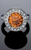 Gems:Jewelry, SPESSARTINE RING. ...