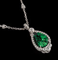 Gems:Jewelry, RARE GEMSTONE NECKLACE: TSAVORITE . ...