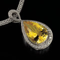 Gems:Jewelry, RARE GEMSTONE NECKLACE: BRIGHT YELLOW DANBURITE. ...