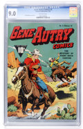 Golden Age (1938-1955):Western, Gene Autry Comics #5 (Fawcett, 1943) CGC VF/NM 9.0 Off-white pages....