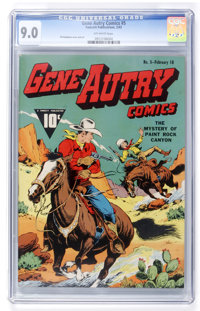 Gene Autry Comics #5 (Fawcett, 1943) CGC VF/NM 9.0 Off-white pages