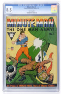 Golden Age (1938-1955):Superhero, Minute Man #1 (Fawcett, 1941) CGC VF+ 8.5 Off-white pages....