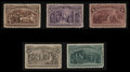 Stamps, #230-38, 1893, 1c - 15c Columbians, VF 80 PSE.... (Total: 2 Card)
