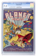 Golden Age (1938-1955):Science Fiction, Planet Comics #6 (Fiction House, 1940) CGC VF- 7.5 Cream tooff-white pages....