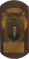 Political:Small Miscellaneous (pre-1896), Henry Clay: The Colorful Front Panel from 1844 Campaign Stogie Case....