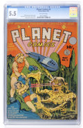 Golden Age (1938-1955):Science Fiction, Planet Comics #5 (Fiction House, 1940) CGC FN- 5.5 Off-whitepages....