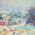 Fine Art - Painting, American:Modern  (1900 1949)  , ELISHA KENT KANE WETHERILL (American, 1874-1929). UpperHudson. Oil on canvas. 20 x 20 inches (50.8 x 50.8 cm). ...