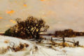 Fine Art - Painting, American:Modern  (1900 1949)  , PROPERTY OF A PRIVATE TEXAS COLLECTOR. BRUCE CRANE (American,1857-1937). Winter Surprise, Long Island. Oil on canvas...