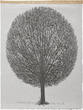 Antiques:Posters & Prints, Jacques Hnizdovsky. Leafless Tree, 1965. A limited edition woodcut on Japanese paper. In excellent condition....