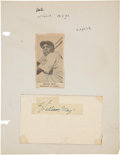 Autographs:Post Cards, 1951 Willie Mays Signed Government Postcard. ...