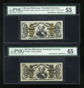 Fractional Currency:Third Issue, Fr. 1331 50c Third Issue Spinner PMG Choice Extremely Fine 45. Fr. 1342 50c Third Issue Spinner Type II PMG About Uncirculated... (Total: 2 notes)