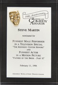 Movie/TV Memorabilia:Awards, Steve Martin's 1996 American Comedy Award Nomination....