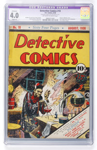Detective Comics #18 (DC, 1938) CGC Apparent VG 4.0 Slight (A) Off-white to white pages