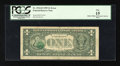 Error Notes:Third Printing on Reverse, Fr. 1924-D $1 1999 Federal Reserve Note. PCGS Fine 15.. ...