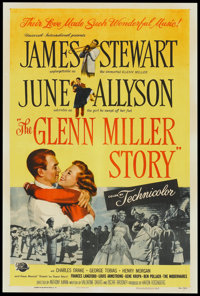 "The Glenn Miller Story (Universal, 1954). One Sheet (27"" X 41""). Drama"