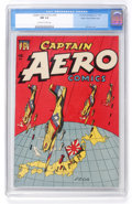 Golden Age (1938-1955):War, Captain Aero Comics #24 Mile High pedigree (Continental/Holyoke,1945) CGC NM 9.4 Off-white to white pages....